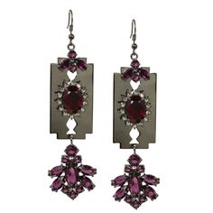 Mawi London Razor Crystal Earrings $340.00
