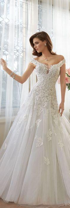 The Sophia Tolli Spring 2016 Wedding Dress Collection - Style No. Y11635 - Vasya #laceweddingdresses: