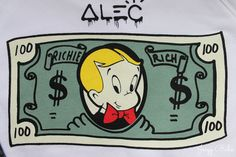 This is a Forever 21 collaboration that I'm truly obsessed with. Alec Monopoly x Saturday Morning TV truly know art. Dope Cartoon Art, Dope Cartoons, Gangster Drawings, Monopoly Man, Catrina Tattoo, Richie Rich, Banksy Art, Chicano Art, Dope Art