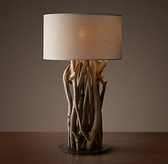 Salvaged Driftwood Table Lamp