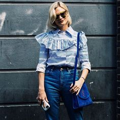"""""""From dressed up jeans to the colour of the season, read our #LFW round up on topshop.com for the trends to know now. #London #streetstyle #inspiration #fashion"""" Photo taken by @topshop on Instagram, pinned via the InstaPin iOS App! http://www.instapinapp.com (10/02/2015)"""