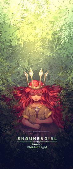ArtStation - Aurora [Child Of Light], Cherry Moran Winx Club, Light Games, Lit Wallpaper, Child Of Light, Bubbline, Manga Covers, Fantasy Illustration, Light Art, Art Inspo