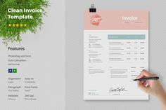 Invoice Template by Papernoon on @creativemarket