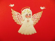 Angel Silhouette | Rubber Stamp Angel Silhouette with Candle ...