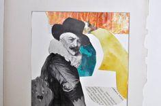 """Saatchi Art Artist Anna Baer; Collage, """"German Course, Whack #3"""" #art"""