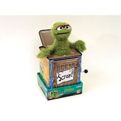 Sesame Street Oscar the Grouch Jack-in-the-Box Sesame Street Toys, Sesame Street Muppets, Oscar The Grouch, Jack In The Box, Jim Henson, Cute Japanese, Birthday Celebrations, Man Stuff, Vintage Toys