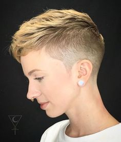 Undercut Pixie Haircut, Short Pixie Haircuts, Pixie Hairstyles, Hairstyles With Bangs, Wedding Hairstyles, Updos Hairstyle, Trendy Hairstyles, Braided Hairstyles, Crop Haircut