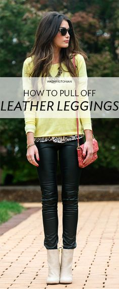 DC ladies show us how they style leather leggings for every occasion | Washingtonian