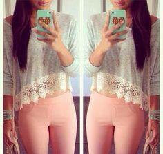 Lovely Lace Shirt and legging fashion