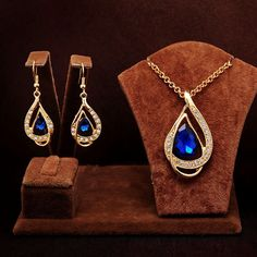 The Latest #Jewelry Sets, Teardrop #Crystal #Jewelry #Sets, More Colors.