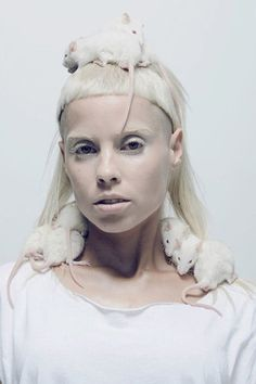 ..Yolandi Visser ...die antwoord..meeting her was amazing ...she is a creature from another world xx