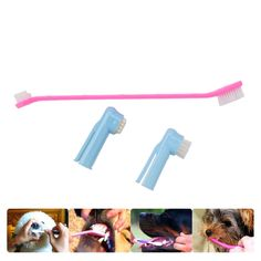 3 PCS Plastic Pet Double Head Toothbrush For Cleaning With Finger Brush Head   Tag a friend who would love this!   FREE Shipping Worldwide   Buy one here---> https://gleepaw.com/3-pcs-plastic-pet-double-head-toothbrush-for-cleaning-with-finger-brush-head/