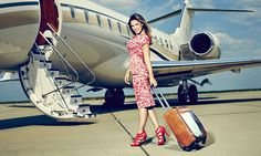 Kelly Brook steps out with world's first 'holiday brag' suitcase