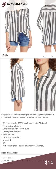 c1c07fb8 BP perfect button down Super chip button down from bp. Black and white  stripe bp Tops Blouses