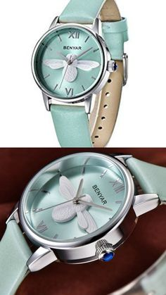BENYAR Waterproof Cute Bee ladies Watches Leather Strap Business Casual Wrist Watch #ad #bee #bees #watch