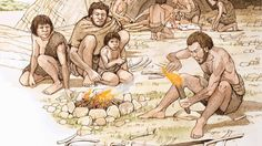 Image result for early man fire