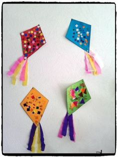 paper kites for kids * paper kites for kids . paper kites for kids crafts . paper kites for kids how to make Kids Crafts, Toddler Crafts, Preschool Crafts, Diy And Crafts, Arts And Crafts, Paper Crafts, Diy Paper, Kites For Kids, Diy For Kids