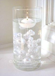 Unique Elegant Jumbo & Assorted Sizes 80 All White Pearls Vase Fillers in Home & Garden, Home Décor, Vases | eBay