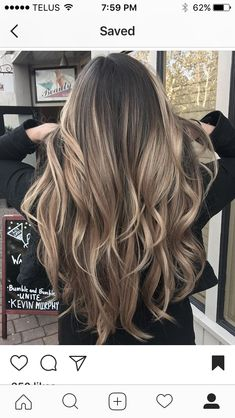 Hair - - - Future Hair – – -Future Hair - - - Future Hair – – - Looking for the top spring hair colors? hair color trends 50 Impressive Blonde Balayage Hairstyles Ideas In Year 2019 2019 hair color trends you'll. Ombre Hair Color, Hair Color Balayage, Hair Highlights, Ombre Style, Blonde Balayage, Hair Colour, Bayalage, Light Brown Hair, Light Hair