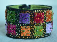 Darling Make Alphabet Friendship Bracelets Ideas. Wonderful Make Alphabet Friendship Bracelets Ideas. Fabric Bracelets, Embroidery Bracelets, Cuff Bracelets, Textile Jewelry, Fabric Jewelry, Beaded Jewelry, Learn Embroidery, Beaded Embroidery, Floral Embroidery