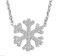 A Charles Rose Jewellers Original. This diamond snowflake necklace and pendant is a beautiful piece. Thank goodness these are the only snowflakes around!   #charlesrosejewellers #summer #snowflake #diamonds #flawless #necklace #gift
