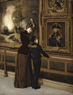 151.)  This beautiful painting says it all -- Thomas Davidson, England's Pride and Glory, 1894.  At the National Maritime Museum, Greenwich, London  @visitlondon