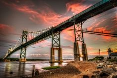 Fire in the Sky over the Mount Hope Bridge by Frank Grace on 500px