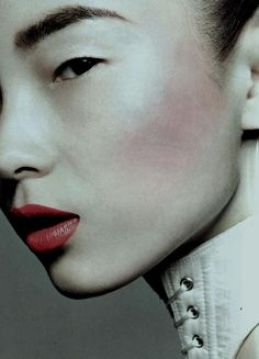 Xiao Wen Ju photographed by Liz Collins for Vogue China September 2011