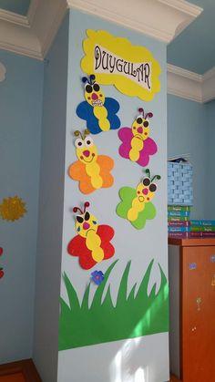 Fun ways to teach Kids by these Crafts - OverallCrafts Preschool Classroom Decor, Preschool Boards, Preschool Themes, Preschool Activities, Class Decoration, School Decorations, Birthday Charts, Art N Craft, Art Education