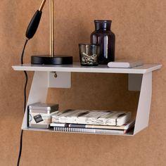 Hylla / sängbord Edgy grå - Hall & förvaring - Produkter - Designtorget