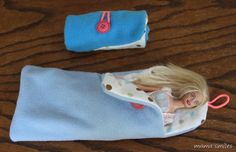 sleeping bags for Barbie (or fit to size for other dolls)