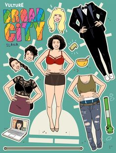 Print Out Our Broad City Paper Dolls -- Vulture- chubby, heavy, plus-sized, overweight full-figures adult female