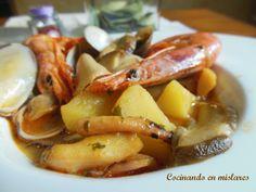 Cocinando en Mislares: CALDERETA de SEPIA y BOLETUS