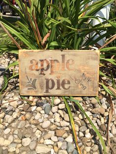 Apple Pie Wood Sign $20 6 x 14 Follow us on FACE BOOK Words Matter Custom Wood Signs