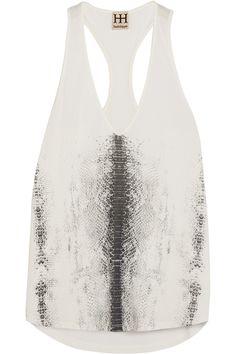 HAUTE HIPPIE Printed modal tank top. #hautehippie #cloth #top