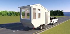 This is a family road trip tiny house design that sleeps four by Michael Janzen of Tiny House Design. From time to time I daydream about taking my family on an extended road trip in a tiny house. …