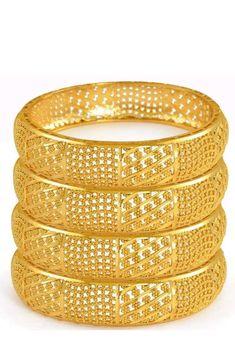 Dubai Gold Bangles, Plain Gold Bangles, Dubai Gold Jewelry, Gold Bangles Design, Gold Plated Bangles, Gold Earrings Designs, Gold Jewellery Design, Gold Kangan, Gold Models