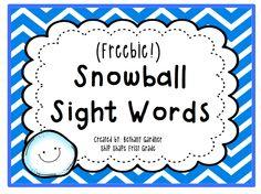 Ship Shape First Grade: Snowball Sight Words {Freebie!}