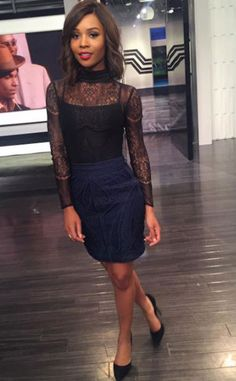 """Zuri Hall from E! News Look of the Day  """"Yours Truly, co-hosting @ENews TONIGHT! The latest #Lemonade tea, Kelly & Michael drama + more.. ☕️ Party starts at 7p & 11p!!"""""""