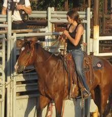Mesa Pate on her horse. She is my idol.