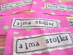 Create your own fabric labels