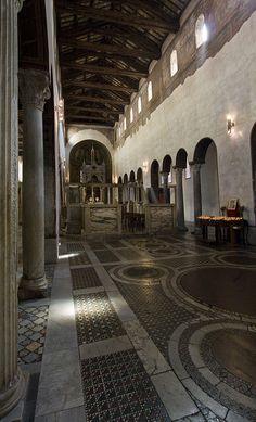 Inside Sta Maria in Cosmedin by Lawrence OP, via Flickr