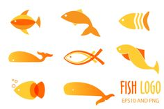 Fish logo or icon set by mcherevan on Creative Market