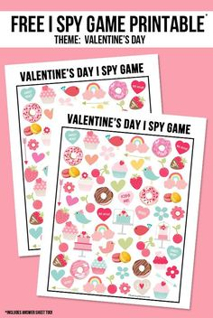 The perfect way to entertain the kids for Valentine's Day!  This sweet Valentine's Day I Spy Printable come with an answer sheet and answer key too!  Print yours at livelaughrowe.com #valentinesday #ispy #printable