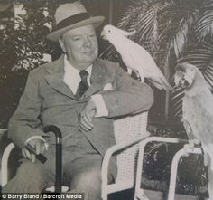 Winston Churchhill can really rock a 'Too....literally (and the Macaw played on......)