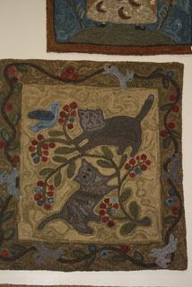 Primitives by the light of the moon: Corbin Mills and American WhateverLiberty, Missouri Animal Rug, Rug Ideas, Punch Needle, Rug Hooking, Primitives, Missouri, Liberty, Needlework, Dog Cat
