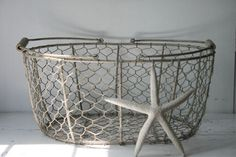 Vintage Wire Basket by @MyVintageLane on Etsy