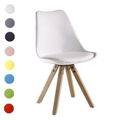 Premium Plastic and Wood. Sofia Dining Chairs. Seat Height: 47 cm. Seat Width: 48 cm. Total Chair Height: 84cm. Quick feature summary Pyramid Leg Design. Soft Cushion Pad included. | eBay!