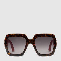 Gucci Oversize square-frame acetate sunglasses