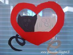askartelua: ystävänpäivä, sydän, kissa  http://ipanaaskartelua.blogspot.fi/2014/03/sydamelliset-kissat_27.html